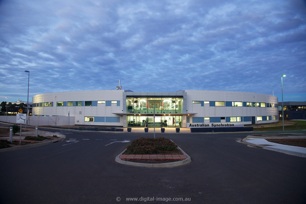 Main building of the Australian Synchrotron at nightime