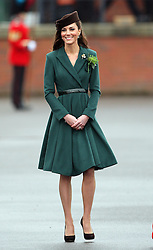 Catherine, Duchess of Cambridge at the 1st Battalion Irish Guards  St Patricks Day Parade at Mons Barracks, Aldershot, Saturday 17th March 2012. .Photo by: Stephen Lock / i-Images