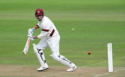 Somerset's Marcus Trescothick cuts the ball - Photo mandatory by-line: Harry Trump/JMP - Mobile: 07966 386802 - 21/08/15 - SPORT - CRICKET - LV County Championship Division One - Day One - Somerset v Worcestershire - The County Ground, Taunton, England.