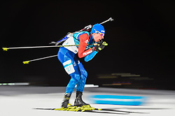 February 11, 2018 - Pyeongchang, Gangwon, South Korea - Quentin Fillon Maillet of France at Mens 10 kilometre sprint Biathlon at olympics at Alpensia biathlon stadium, Pyeongchang, South Korea on February 11, 2018. (Credit Image: © Ulrik Pedersen/NurPhoto via ZUMA Press)