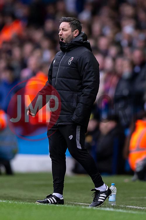 Bristol City Manager Lee Johnson - Mandatory by-line: Daniel Chesterton/JMP - 15/02/2020 - FOOTBALL - Elland Road - Leeds, England - Leeds United v Bristol City - Sky Bet Championship