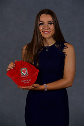 NEWPORT, WALES - Saturday, May 19, 2018: Jessica Smith during the Football Association of Wales Under-16's Caps Presentation at the Celtic Manor Resort. (Pic by David Rawcliffe/Propaganda)