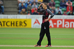 Dejection for Max Waller.  - Mandatory by-line: Alex Davidson/JMP - 19/06/2016 - CRICKET - Cooper Associates County Ground - Taunton, United Kingdom - Somerset v Hampshire - NatWest T20 Blast