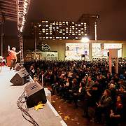 Kansas City Symphony Chorus at the Mayor's Christmas Tree Lighting at Crown Center, Kansas City Missour, November 25, 2011.
