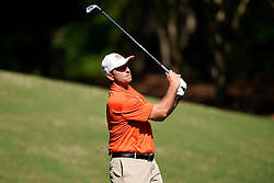 Clemson  head football coach Dabo Swinney tees off during the Chick-fil-A Peach Bowl Challenge at the Ritz Carlton Reynolds, Lake Oconee, on Tuesday, April 30, 2019, in Greensboro, GA. (Paul Abell via Abell Images for Chick-fil-A Peach Bowl Challenge)