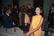 LOLA SCHNABEL; HANNAH BHUIYA, Italian Vanity Fair's 10 Anniversary celebration  hosted by Luca Dini. . Fondazione Cini, Isola di San Giorgio. Venezia.  1 September 2013