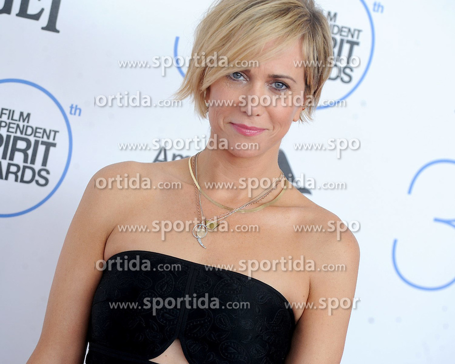 Kristen Wiig at the 30th Film Independent Spirit Awards 2015 - Arrivals 1, Santa Monica Beach, Santa Monica, CA February 21, 2015. EXPA Pictures &copy; 2015, PhotoCredit: EXPA/ Photoshot/ Dennis Van Tine<br /> <br /> *****ATTENTION - for AUT, SLO, CRO, SRB, BIH, MAZ only*****
