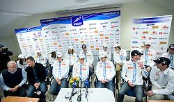 Press conference of Slovenian Nordic team  before departure to Nordic Ski World Championships Liberec 2009, on February 16, 2009, in Ljubljana, Slovenia. (Photo by Vid Ponikvar / Sportida)