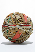ball made of old bristle and normal rubber strings
