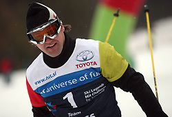 "Berni Knauss after the second run of ""Ski Legends HIT Challenge by Jure Kosir"" event in Kranjska Gora, Slovenia, on February 2, 2008. (Photo by Vid Ponikvar / Sportal Images)."