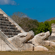 Chichen Itza, through its many years, has seen many owners apart from its original creators the Maya. In 1526, Francisco Montejo, a Spanish Conquistador lead a charter to conquer the Yucatan peninsula which he suffered great losses in, but gained an advantage by establising a base of operations in Xamanha, south of Cancun. Montejo returned in 1531 with a greater force and seised the city of what is now known as Campeche, and sent his son in an expedition to conque Chichen Itza with the desires of creating a capital.