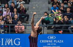 SHENZHEN, Jan. 5, 2019  Aryna Sabalenka of Belarus celebrates after winning the final match against Alison Riske of the United States at the WTA Shenzhen Open tennis tournament in Shenzhen, south China's Guangdong Province, Jan. 5, 2019. Aryana Sabalenka won 2-1 and claimed the title. (Credit Image: © Xinhua via ZUMA Wire)