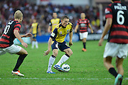 21.04.2013 Sydney, Australia. Mariners Daniel McBreen in action during the Hyundai A League grand final game between Western Sydney Wanderers FC and Central Coast Mariners FC from the Allianz Stadium.Central Coast Mariners won 2-0.