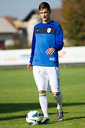 Petar Stojanovic of Slovenia during football game between Slovenia and Andorra of UEFA Under19 Championship Qualifications, on October 15, 2013 in Bakovci, Slovenia. (Photo by Erik Kavas / Sportida)