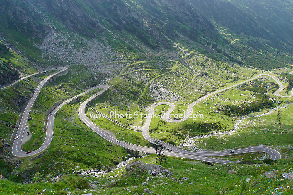 winding Transfagarasan mountain road, Romania
