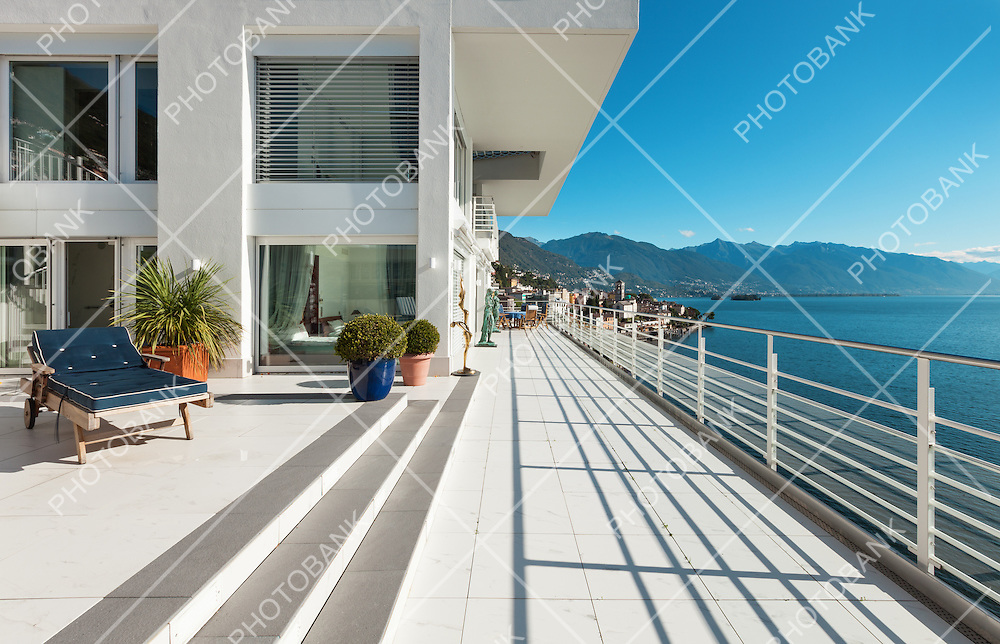 wide terrace of a penthouse, outside