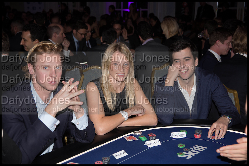 WILLIAM SETH-SMITH; LAURA OREMOND; GEORGE EGGINS, Quintessentially Foundation Poker Night,  annual poker night,  to raise money for Right to play, Greenhouse and Place2Be. Savoy. 13 November 2014.