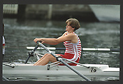 Henley, England,  W1X,  Adrain GRUMDITCH 1990 Women's Henley Regatta, Henley Reach, River Thames Oxfordshire <br /> <br /> <br /> [Mandatory Credit; Peter Spurrier/Intersport-images] 1990 Henley Women's Regatta, Henley,