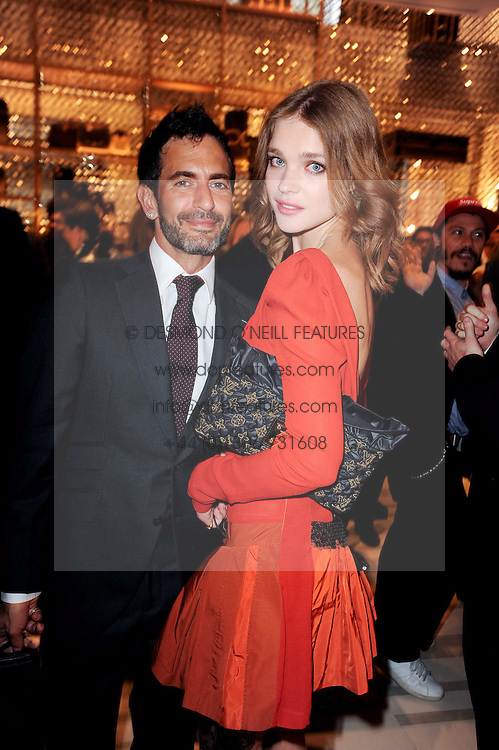 NATALIA VODIANOVA and MARC JACOBS at a party to celebrate the opening of the Louis Vuitton Bond Street Maison, New Bond Street, London on 25th May 2010.