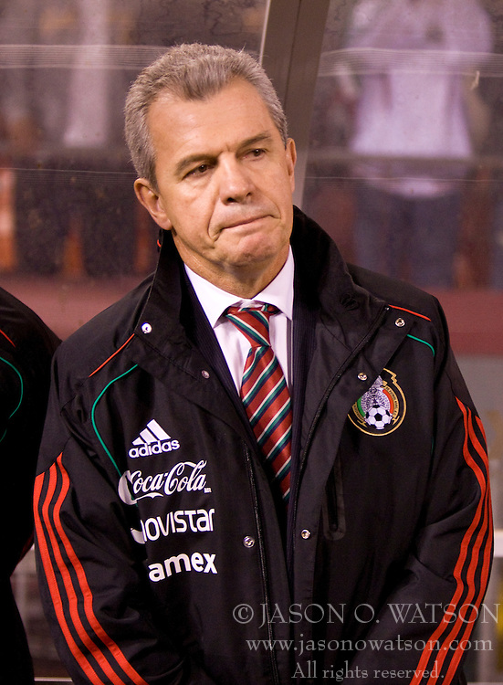 February 24, 2010; San Francisco, CA, USA;  Mexico head coach Javier Aguirre before the game against Bolivia at Candlestick Park. Mexico defeated Bolivia 5-0.