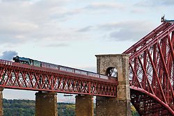The Flying Scotsman crosses the Forth Road Bridge to North Queensferry 15 May 2016<br /> <br /> (c)Craig Brown| Edinburgh Elite media