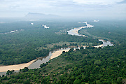 Aerial Images of Sri Lanka. Mahaweli river (fore ground) Dimbulagala in back ground (Gunner's Quoin).