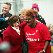 Rep. Suzanne Bonamici embraces teacher Nichole Watson.<br /><br />Thousands of educators and their supporters from all over the state gather at the Oregon State Capitol to rally for adequate school funding. A select group of teachers and staff members spoke to Gov. Kate Brown about their experiences, and shared with her the challenges of being a teacher today.<br /><br />Photography by Thomas Patterson.