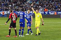 Drissa DIAKITE / Fredy FAUTREL - 07.03.2015 -  Bastia / Nice -  28eme journee de Ligue 1 <br />Photo : Michel Maestracci / Icon Sport