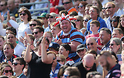 A happy fan during the Rugby World Cup 2015 match between Samoa and USA at the Brighton Community Stadium, Falmer, United Kingdom on 20 September 2015.
