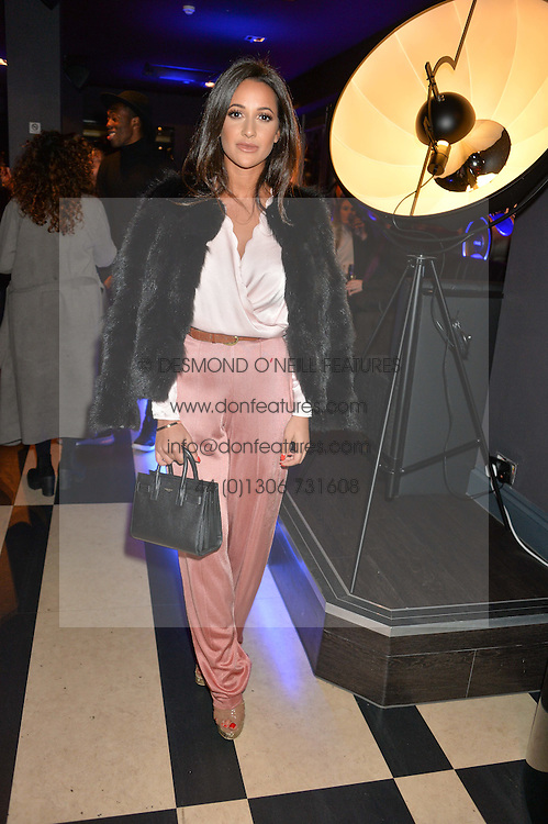 ROXIE NAFOUSI at a party to celebrate the 1st anniversary of Hello! Fashion Monthly magazine held at Charlie, 15 Berkeley Street, London on 14th October 2015.