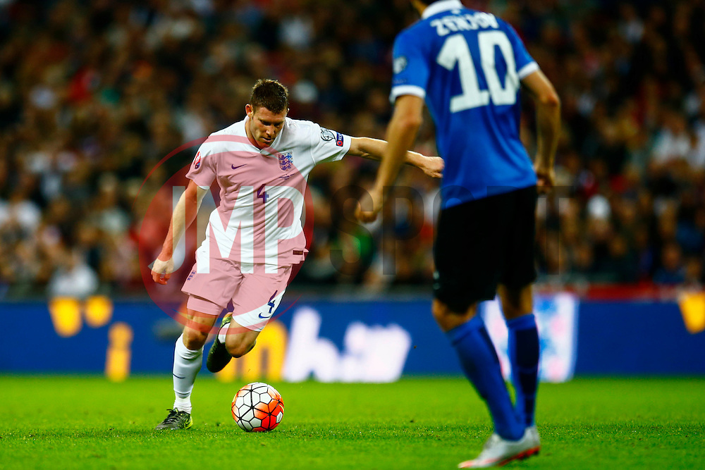 James Milner of England lines up a shot - Mandatory byline: Jason Brown/JMP - 07966 386802 - 09/10/2015- FOOTBALL - Wembley Stadium - London, England - England v Estonia - Euro 2016 Qualifying - Group E