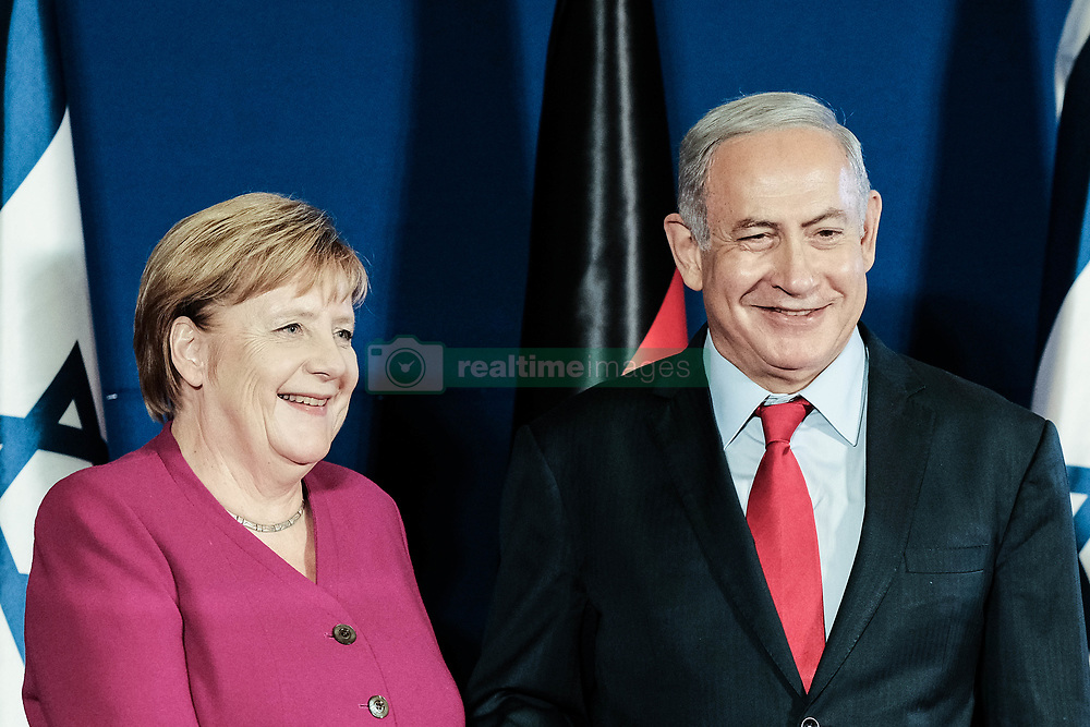 October 4, 2018 - Jerusalem, Israel - Chancellor ANGELA MERKEL of the Federal Republic of Germany and Israeli Prime Minister BENJAMIN NETANYAHU deliver statements at a joint press conference ahead of a meeting of the two governments at Jerusalem's King David Hotel. Merkel is on a 24 hour visit in Israel with a delegation of ministers. (Credit Image: © Nir Alon/ZUMA Wire)