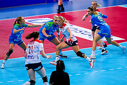 02-12-2019 JAP: Slovenia - Norway, Kumamoto<br /> Second day 24th IHF Women's Handball World Championship, Slovenia lost the second match against Norway with 20 - 36. Polona Baric #13 of Slovenia, Aneja Beganovic #41 of Slovenia, Stine Bredal Oftedal #10 of Norway