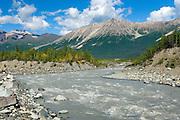 Kennecott River laden with glacial silt or flour, Wrangell-St. Elias National Park Alaska