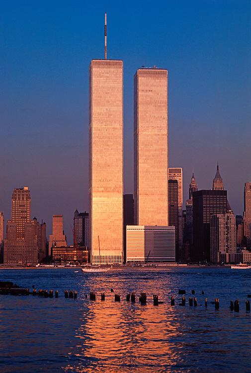Golden Twin Towers World Trade Center Manhattan NYC