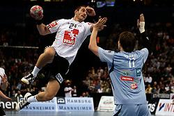 Handball: European Championship Qualification, Germany (GER) - Slovenia (SLO), Michael Haass (GER), Sebastjan Skube (SLO), www.hoch-zwei.net, copyright: SPORTIDA / HOCH ZWEI / Philipp Szyza
