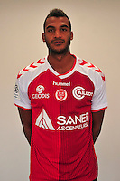 David Ngog - 21.10.2014 - Photo officielle Reims - Ligue 1 2014/2015<br /> Photo : Philippe Le Brech / Icon Sport