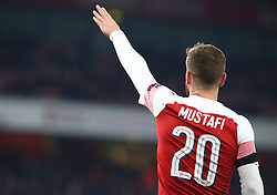 October 31, 2018 - London, England, United Kingdom - London, UK, 31 October, 2018.Shkodran Mustafi of Arsenal.During Carabao Cup fourth Round between Arsenal and Blackpool at Emirates stadium , London, England on 31 Oct 2018. (Credit Image: © Action Foto Sport/NurPhoto via ZUMA Press)