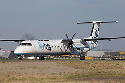 © under license to London News Pictures.<br /> 17/06/2013. FILE PICTURE: Flybe, the Exeter-based airline, has today (11 NOV 2013) announced plans to cut 500 jobs across the business, despite reporting a return to profit. Pre-tax profits were £13.8m for the six months to 30 September, compared with a loss of £1.6m a year earlier.. Photo credit : IAN SCHOFIELD/LNP