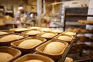 Hiivattoman Maalaisleivän juuri tuotiin Ranskan Alsacesta pienestä biodynaamisesta leipomosta 1994. Maalaisleipä nostatetaan nostatuskorissa.