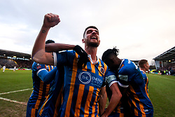 Luke Waterfall of Shrewsbury Town celebrates scoring a goal to make it 2-0 - Mandatory by-line: Robbie Stephenson/JMP - 26/01/2019 - FOOTBALL - Montgomery Waters Meadow - Shrewsbury, England - Shrewsbury Town v Wolverhampton Wanderers - Emirates FA Cup fourth round