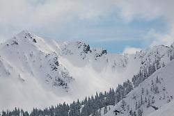North America, United States, Washington, ski trails at Crystal Mountain
