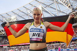 22.07.2017, Olympia Stadion, London, GBR, Leichtathletik WM der Behinderten, im Bild Bronze 100m fuer Lindy Ave (GER, Uni Greifswald, T38) // Bronce 100m Lindy Ave (GER, Uni Greifswald, T38) // during the World Para Athletics Championships at the Olympia Stadion in London, Great Britain on 2017/07/22. EXPA Pictures © 2017, PhotoCredit: EXPA/ Eibner-Pressefoto/ Eibner-Pressefoto<br /> <br /> *****ATTENTION - OUT of GER*****