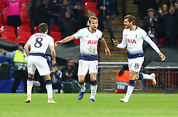 November 6, 2018 - London, England, United Kingdom - London, England - November 06, 2018.Tottenham Hotspur's Harry Kane celebrates this first goal.during Champion League Group B between Tottenham Hotspur and PSV Eindhoven at Wembley stadium , London, England on 06 Nov 2018. (Credit Image: © Action Foto Sport/NurPhoto via ZUMA Press)