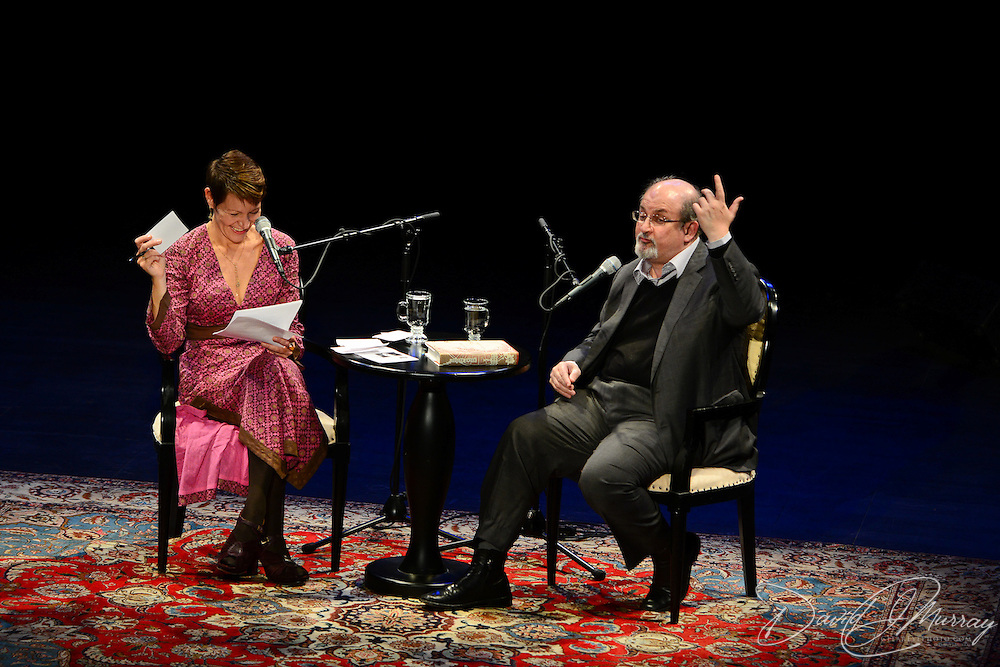 NHPR's Virginia Prescott interviews Salman Rushdie in a Writers On A New England Stage show at The Music Hall in Portmouth, NH.