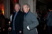 ALAN RICKMAN; IAN MCKELLEN; The after party following the Vaudeville Theatre press night of 'I Bought a Blue Car Today', at The Waldorf Hilton Hotel. Aldwych. London. 2 September 2009.