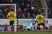 Middlesbrough forward David Nugent (35)  blasts over when through on goal during the Sky Bet Championship match between Rotherham United and Middlesbrough at the New York Stadium, Rotherham, England on 8 March 2016. Photo by Simon Davies.