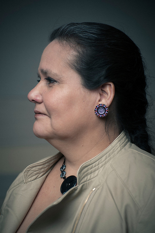 Portrait of Beverly Jacobs, former president of the Native Women's Association of Canada. She is currently working on an interdisciplinary PhD in Holistic Aboriginal Health, Law, and Indigenous Research Methodologies at the University of Calgary. at the Truth TEDx Calgary Talks ®Brett Gilmour