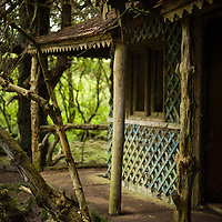 Derelict summer house in the grounds of Lowther Castle, Cumbria
