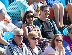 LIVERPOOL, ENGLAND - Saturday, June 21, 2014: Spectators during Day Three of the Liverpool Hope University International Tennis Tournament at Liverpool Cricket Club. (Pic by David Rawcliffe/Propaganda)
